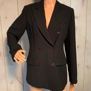 Bloomingdales Jacket double breasted sz 4 padded